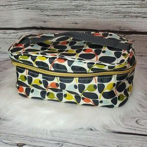 Orla Kiely cosmetic train travel bag cosmetic case